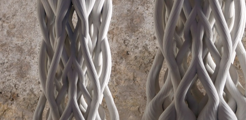 Woven Columns by Michael Hansmeyer and Benjamin Dillenburger, ETH Zurich, CAAD
