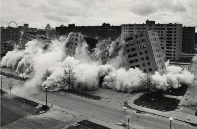 Pruitt Igoe, the greatest failure of Modernist authoritarian architecture.